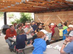 Arrowhead Point Resort group eating